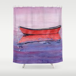 Red Dory Reflections Shower Curtain