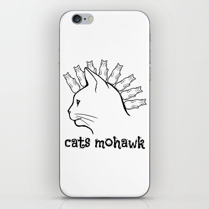 Cats Mohawk iPhone Skin