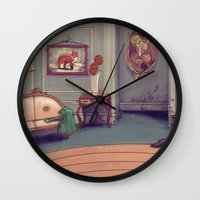 shabby chic Wall Clocks featuring Shabby Chic by Ben Geiger