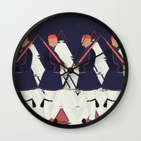 guardians Wall Clocks featuring Guardians by infloence