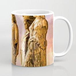 Porch of the Caryatids, Temple of Athena, Acropolis, Greece Portrait Painting Coffee Mug
