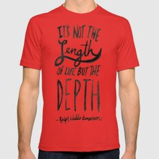 Depth x Ocean Mens Fitted Tee X-LARGE Red