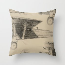 Spirit of St. Louis, 1927 Throw Pillow