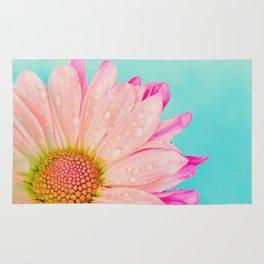 Retro pastel summer daisy Rug