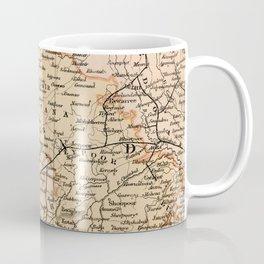 Vintage and Retro Map of India Coffee Mug