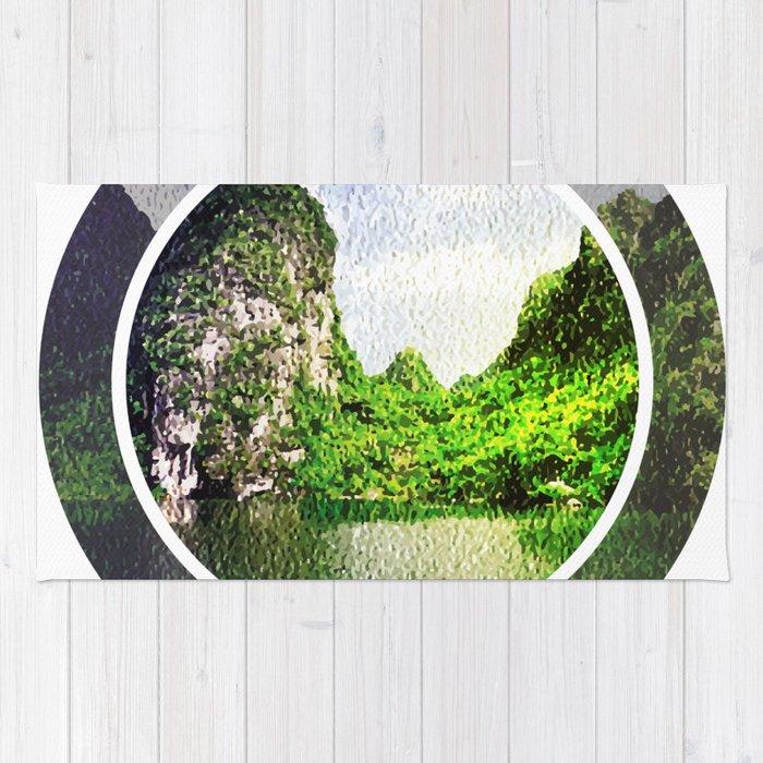 Trang An Ninh Binh Vietnam Landscape Rug