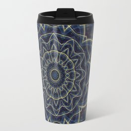 Mandala Flower blue Travel Mug