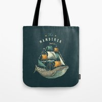 flag Tote Bags featuring Whale | Petrol Grey by Seaside Spirit