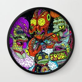 Future Monsters Wall Clock