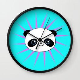 Wild Rockstar Panda Wall Clock