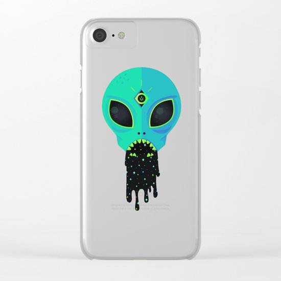 Alien Flu Clear iPhone Case