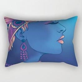 Blue Flapper Rectangular Pillow