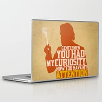 calvin and hobbes Laptop & iPad Skins featuring Django Unchained - Calvin Candie: Now You Have My Attention by Jon Naylor