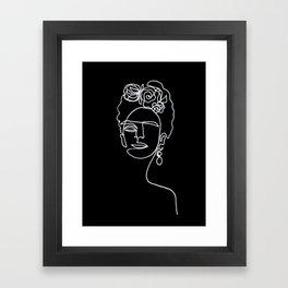 Frida Kahlo BW Framed Art Print