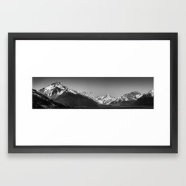 Geese over the Tasman Valley Framed Art Print