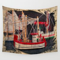 moriarty Wall Tapestries featuring Fishing Boat by Michael P. Moriarty