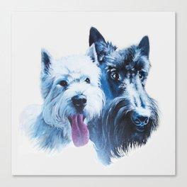 Doggie Friends Canvas Print
