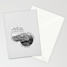 mountains-biffy clyro Stationery Cards