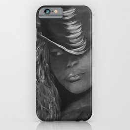 Invisible 2 by Lu, black-and-white iPhone Case