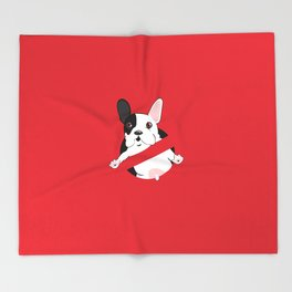 Lil Stam Busters French Bulldog Throw Blanket