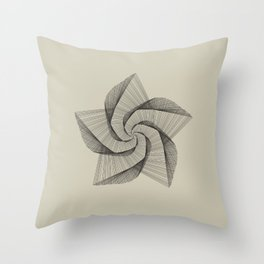 Dark Star Lines Throw Pillow