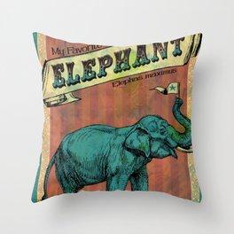 My Favorite Elephant Throw Pillow