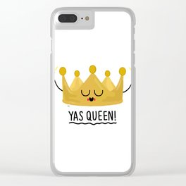 Yas Queen Clear iPhone Case