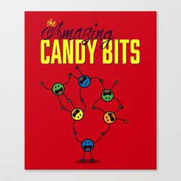 The Amazing Candy Bits Canvas Print