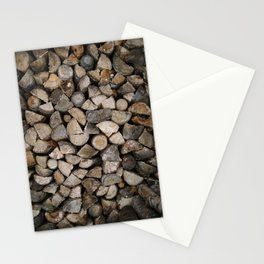 Wood Stack Stationery Cards