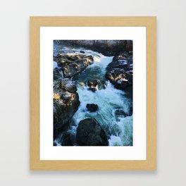 Freezing Waters Framed Art Print
