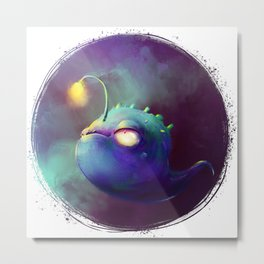 Fantasy Creature Deep-Sea Angler Fish Metal Print