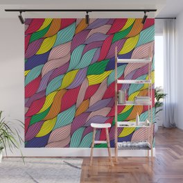 Colorful waves Wall Mural