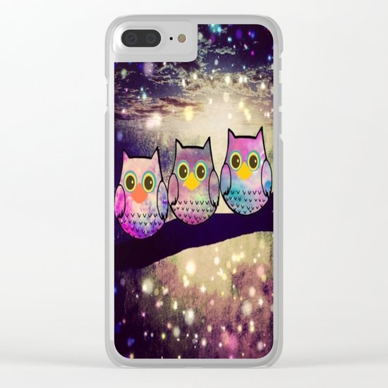 owl-80 Clear iPhone Case