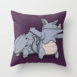 Pokémon - Number 111 & 112 Throw Pillow