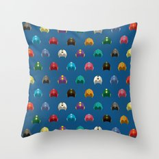 Cool Colorful Megaman Helmet Pattern Throw Pillow