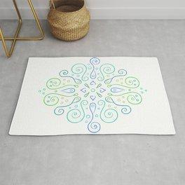 The Joy of Spring Mandala Rug