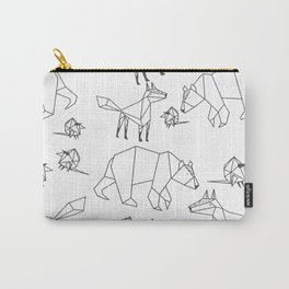 Geometric Animals Pattern Carry-All Pouch