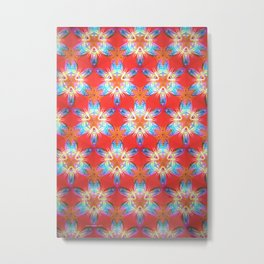 Nine-Pointed Star Flower: Perfection Metal Print