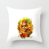 emma watson Throw Pillows featuring Emma Watson by ururuty