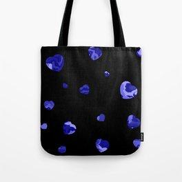 Chaotic Hearts Dark Blue Dapple Tote Bag