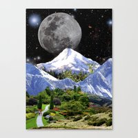 walk the moon Canvas Prints featuring Walk by Picklebackwilson