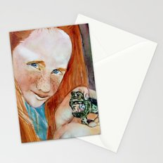 Redhead Green Frog Stationery Cards