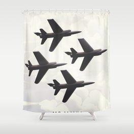 US Navy flight poster Shower Curtain