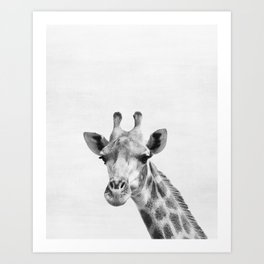 Giraffe, Animal, ZOO, Safari, Nursery, Minimal, Modern, Wall art Art Print
