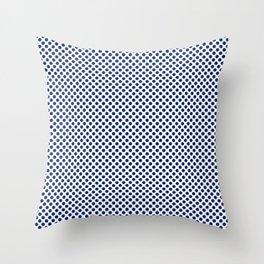 Deep Sapphire Polka Dots Throw Pillow