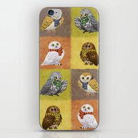 hogwarts iPhone & iPod Skins featuring Hogwarts Owls by Katie O'Meara