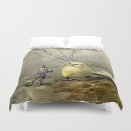 """""""Bother the Gnat"""" by Duncan Carse Duvet Cover"""