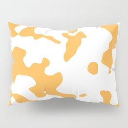 Large Spots - White and Pastel Orange Pillow Sham