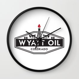 Wyatt Oil Wall Clock