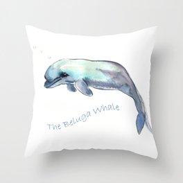 The Beluga Whale Throw Pillow